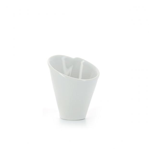 White porcelain cone