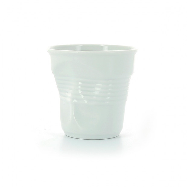 Crumpled porcelain cappuccino cup