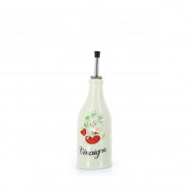 Porcelain vinegar bottle Provence-style