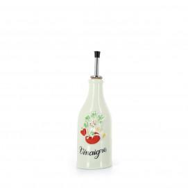 Porcelain vinegar bottle Provence-style