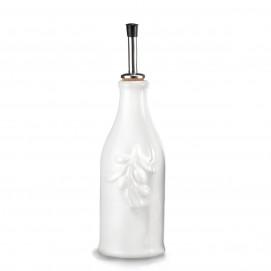 White porcelain olive oil bottle 25 cl