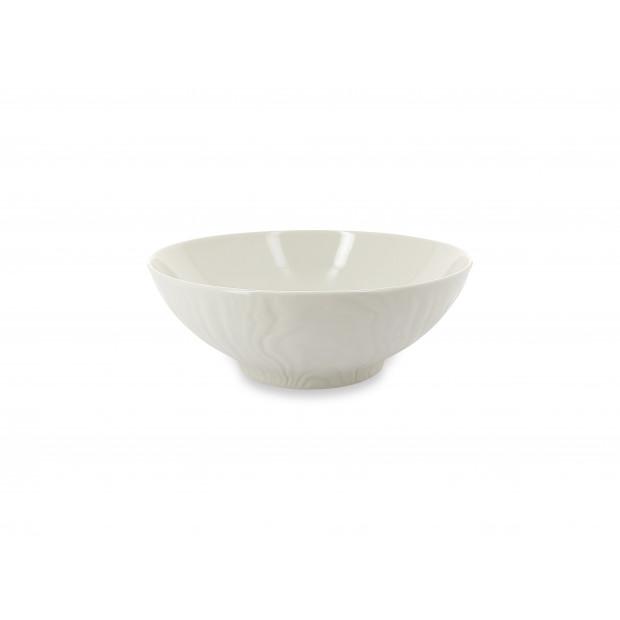 Wood-effect porcelain salad bowl